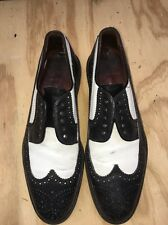 POLO RALPH LAUREN  Two Tone Black + White WINGTIPS Shoes  Size 8 Needs Lace