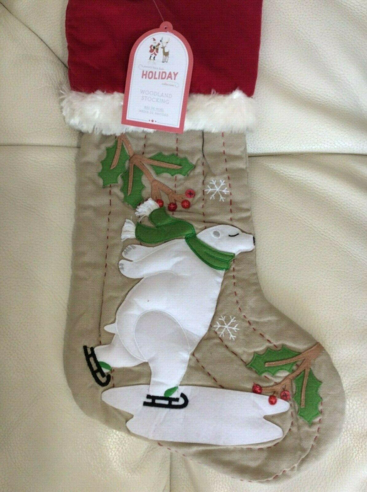 Pottery Barn Kids Nordic Wool Polar Bear Red Christmas Stocking No Mono For Sale Online Ebay