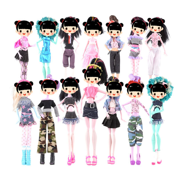 7x Fashion Doll Dress For Doll Toy Monster High School Party Costume Clothes Kit