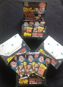 Lot of 3 Unopened 1999 Topps Football Packs *Possible Peyton Manning/Favre AUTO*