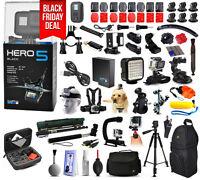 Gopro Hero5 Hero 5 Hd Black Edition Action Camera + Mega Accessories Bundle