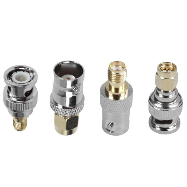 High Impedance Connection Accessories Between BNC Antenna and SMA Radio Dpofirs SMA to BNC Adapter Kit 4 Pcs Coaxial Connectors BNC Male to SMA Female 1000 Times Life Expectancy