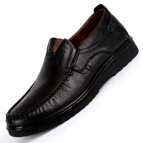 Men Retro Leather Shoes Soft Sole Casual Driving Antislip Loafers Large Size HOT