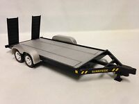 Die-cast Car Trailer, 1:24 Scale With Trailer Hitch Kit , Sunnyside Toys, Black