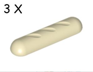 LEGO: Bread // Baguette Tan // Beige 4342 New X3.