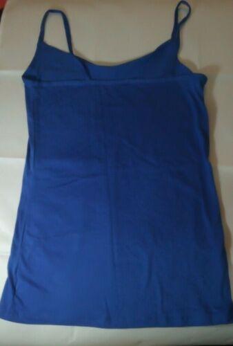 Femmes à Lanières Débardeur coton Cami Nightwear pyjama bleu royal Ex High Street