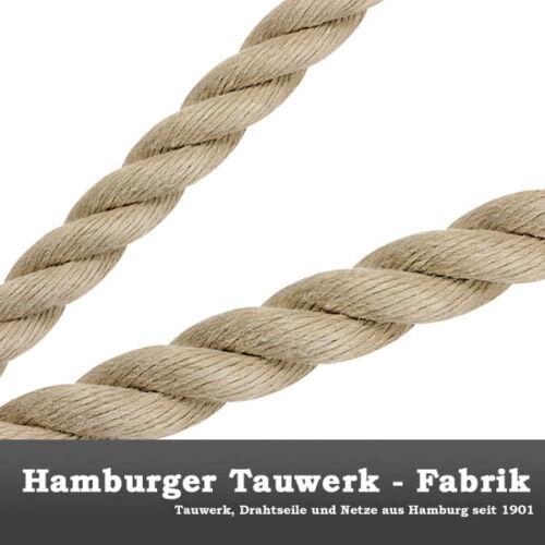 4mm ø Spleitex Tauwerk Seil 3-schäftig gedreht 100m Polyhanf-Historic Tauwerk