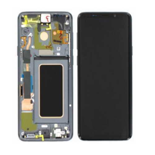 LCD S9 G960F ECRAN LCD VITRE TACTILE SAMSUNG GALAXY AVEC CHASSIS GRIS