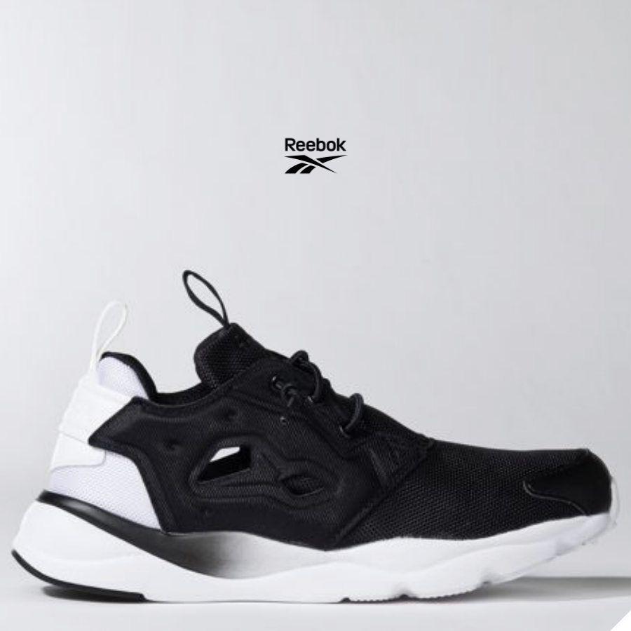 Reebok Furylite Clean RunningChaussuresSneakers BD1437noirblanc SZ 4-12.5