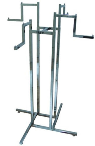 NEW 4 WAY STEPPED ARM HEAVY DUTY CLOTHES RAIL GARMENT STAND