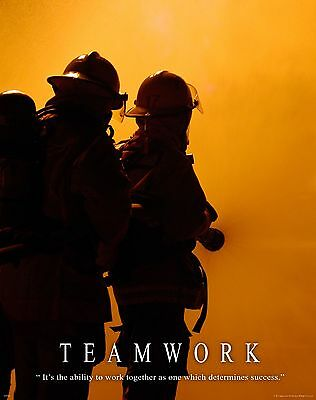 Firefighting Motivational Poster Art Fireman Equipment Badge Helmet Tools MVP210