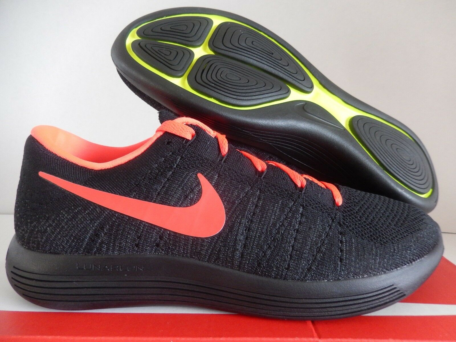 MENS NIKE LUNAREPIC LOW FLYKNIT ID nero-CRIMSON SZ 10 WIDE WIDE WIDE [889688-991] 86209a