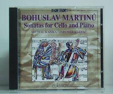 CD Martinu Sonatas for Cello and Piano Michal Kanka Jaromir Klepac  Bonton 1992