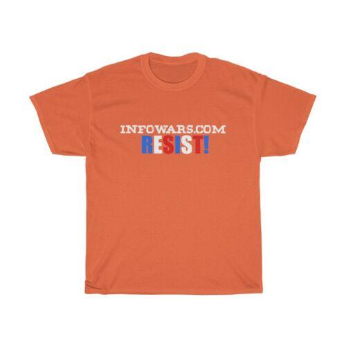 Conservative tee INFOWARS fan shirt InfoWars Resist T-shirt
