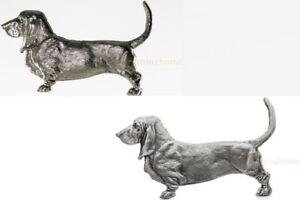 BASSET-HOUND-DOG-GRILLE-ORNAMENT-AUTO-TRUCK-CAR-HOOD-EMBLEM-MEDALLION-GRILLIE