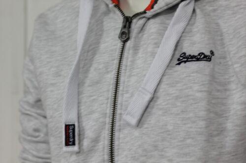 Superdry M20000NS//54G Mens Original Orange Label Zip Hood Hoodies Ice Marl