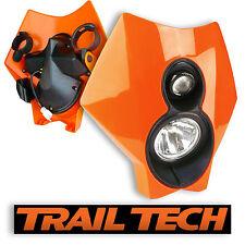 TrailTech x2 Dual Sport Halogen HeadLight Orange MX Dirtbike Moto DOT KTM