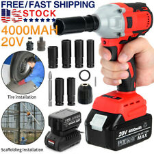 New Listingcordless Electric Impact Wrench Gun 12 Driver 520nmli Ion Battery High Power