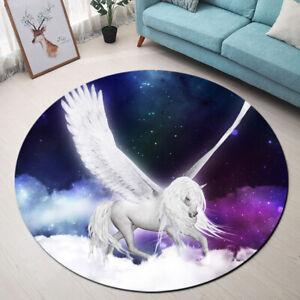 Fantasy Pegasus Unicorn Area Rugs Floor Rug Mat Carpet