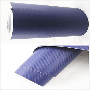 auto interior handle console 3d blue carbon fiber wrap vinyl film decal sticker ebay. Black Bedroom Furniture Sets. Home Design Ideas