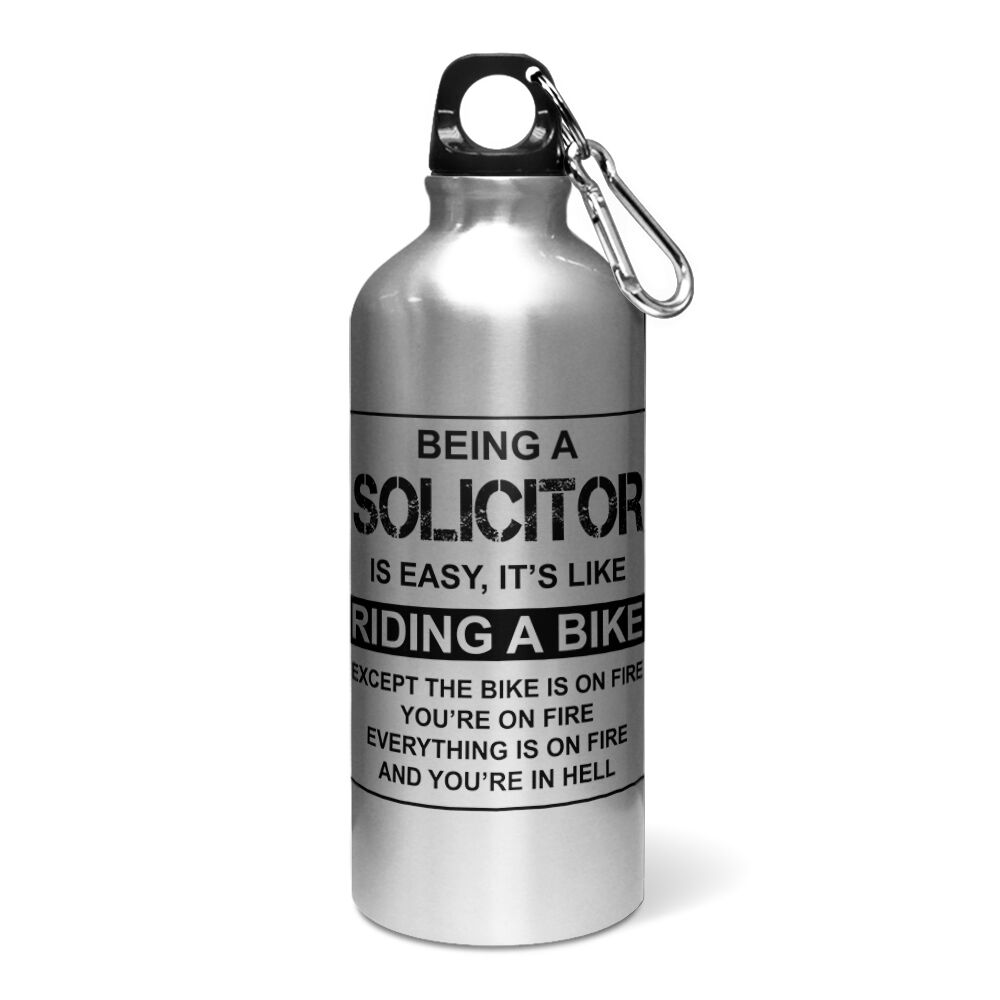 Est facile de son son son comme chevauchant un vélo drôle aluminium sports bouteille d'eau/cantine 45cb67