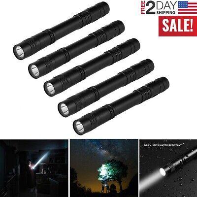 Details about  /5 Pack LED Flashlights Clip Mini Light Penlight Portable Pen Torch Lamp Light US
