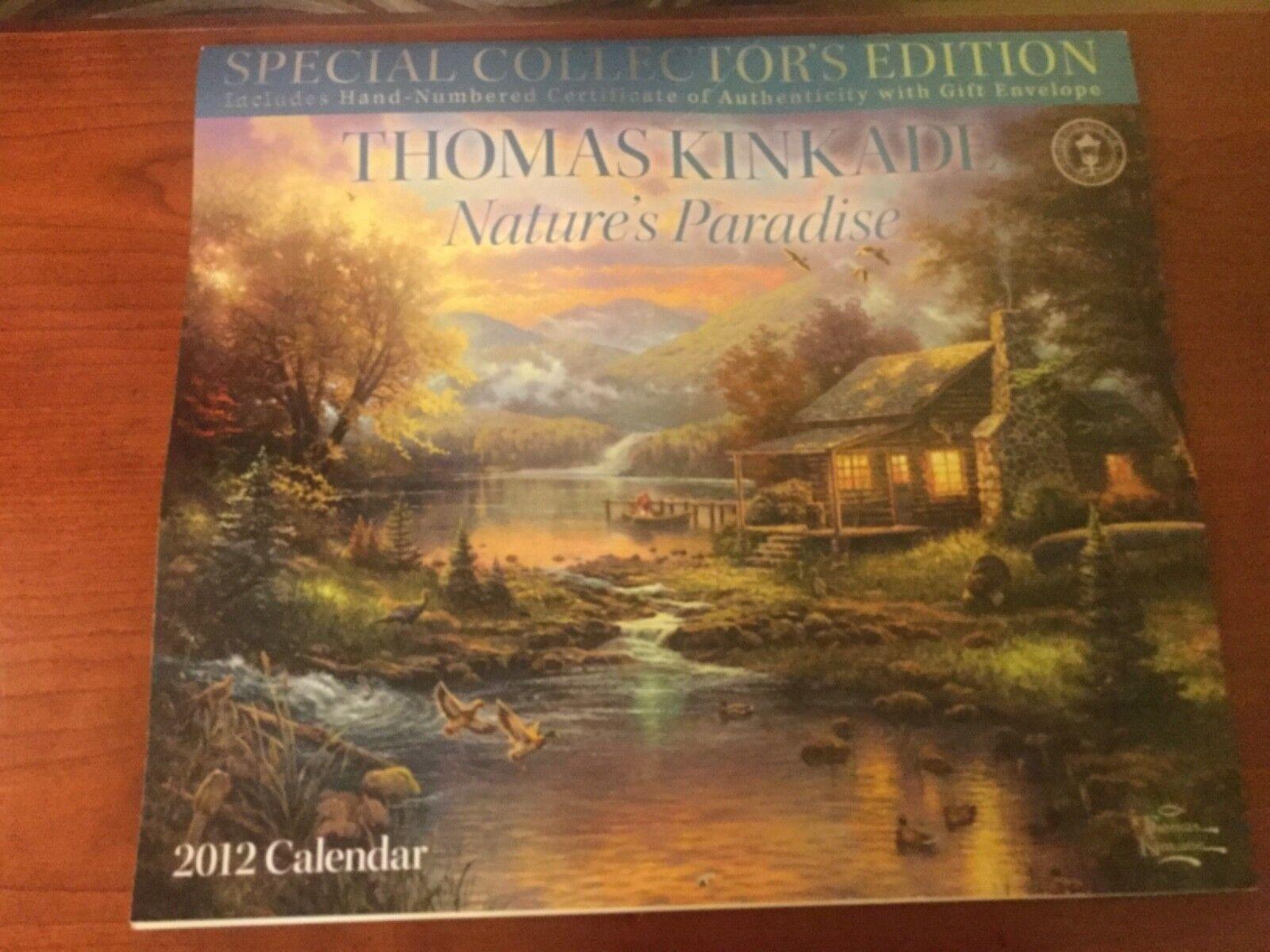 thomas kinkade special collectors edition natures paradise 2012 wall calendar