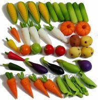 40-Piece Dollhouse Miniature Mixed Vegetables Set * Doll Mini Food Wholesale v3