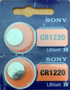 2-Sony-CR-1220-LITHIUM-BATTERY-3V-Authorized-Seller-USA-Free-Ship-Exp-2029