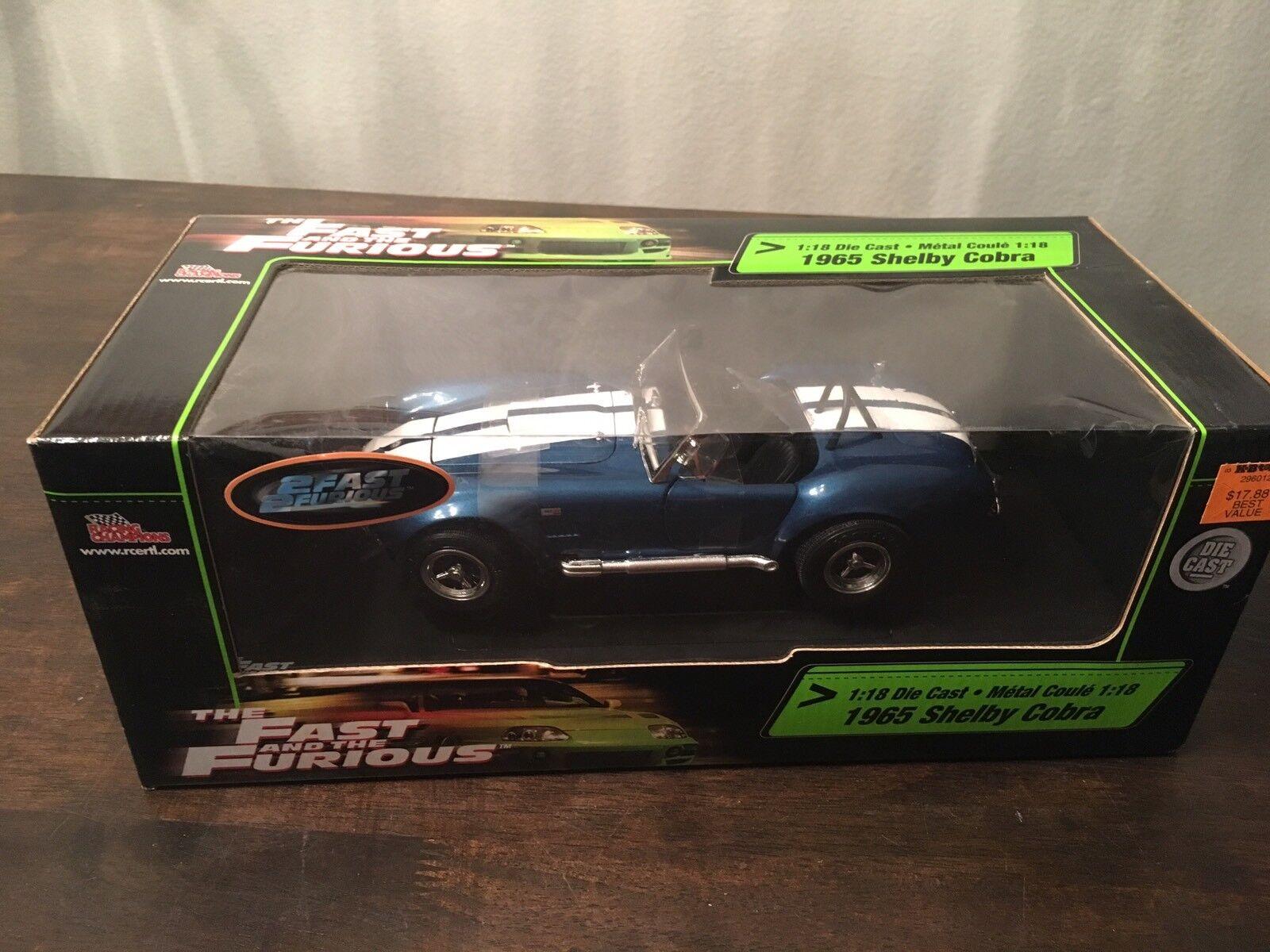 più economico ERTL The Fast e The Furious 1965 Shelby Cobra Cobra Cobra 1 18 Die cast 2 Fast 2 Furious  Nuova lista