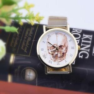 Men-Women-039-s-Fashion-Cool-Skull-Dial-Current-Alloy-Band-Analog-Wrist-Watch-Wathes