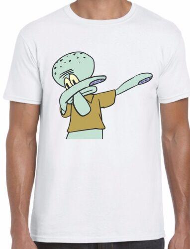 Squidward Dabbing Spongebob squarepants Inspired Unisex T-Shirt Dab sponge bob