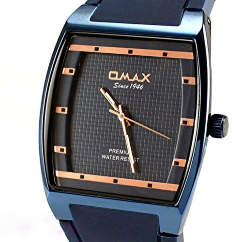 OMAX Slim Sporty Square Dail Unisex Rubber Strap Classic Dress Wrist Watch D006