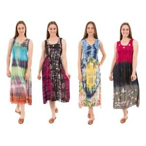 ded150c6bd4ac Details about Caroline Morgan CKM Casual Summer Holiday Tie Dye Dress Gypsy Maternity  Dresses