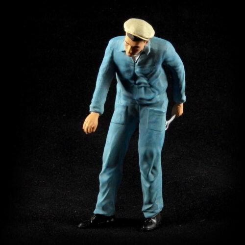 Mecánico azul overall 1:18 figuras patentadas