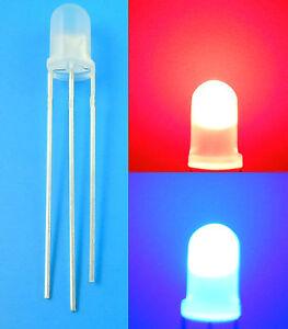 20Pcs-5mm-Bi-Color-Red-Blue-3-Pin-LED-Common-Cathode