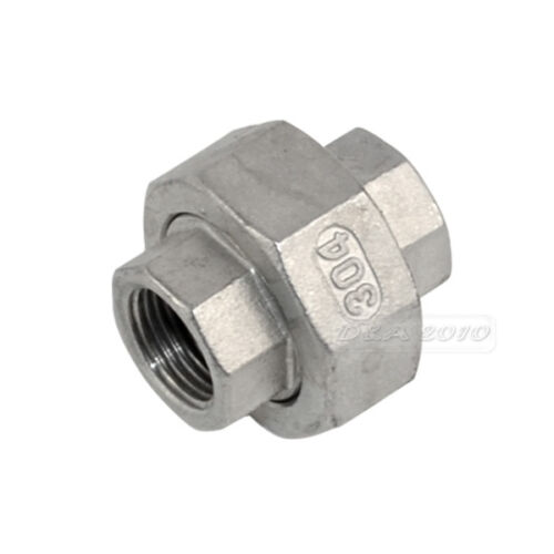 """1//4/"""" 2/""""Malleable Straight Union Coulping Pipe Fitting Stainless Steel SS304 F//F"""