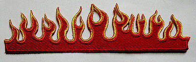 BURN FLAME FIRE BIKER MOTORCYCLES Embroidered Iron on Patch Free Postage
