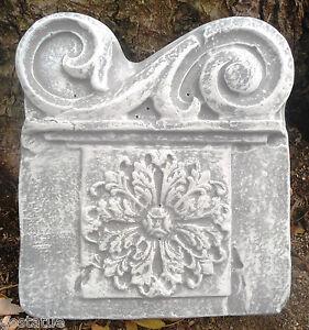 Plastic-tuscan-roman-decor-accent-plaque-mold-plaster-concrete-mould