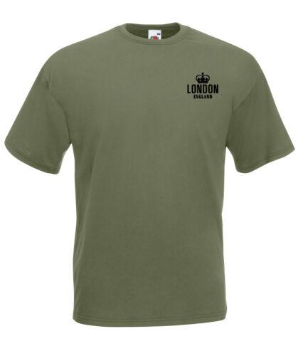 London England Crown Design Quality t-shirt tee mens unisex