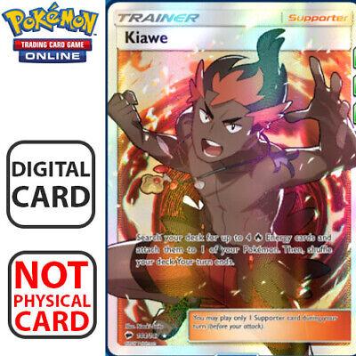 KIAWE Full Art Sun /& Moon 144//147 for Pokemon TCG Online Digital.