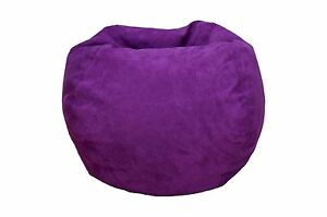 Outstanding Details About Bean Bag Chair Micro Suede Purple Teen Room Family Room Theatre Room Kids Room Unemploymentrelief Wooden Chair Designs For Living Room Unemploymentrelieforg