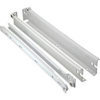 6 Hafele Metal Drawer Sides With 16 Drawer Slides, White