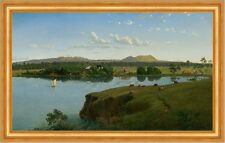 Purrumbete from across the lake Eugene von Guerard See Australien B A3 01723