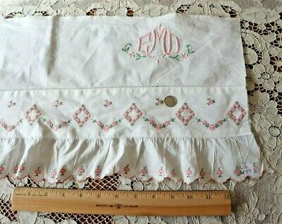 Antique Vintage French Petite Roses Silky Satin Fabric ~ Pink Rose ~dolls bears