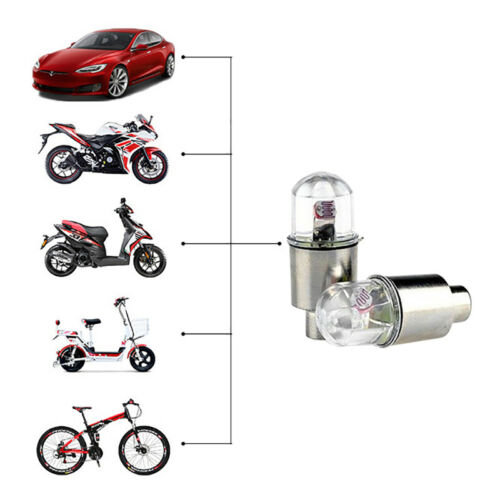 LED Wheel Flash Tyre Light Tire Valve Cap For Bike Bicycle Car Motorcycle Lamp