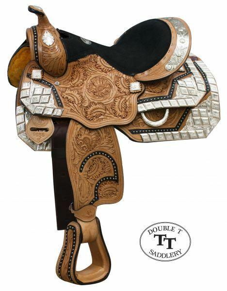 13  doble T completamente Fileteado Juventud Pony mostrar Silla Con Plata