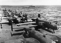"B-25B Bombers USS Hornet Doolittle Raid 5""x 7"" World War II Photo WW2 WWII 825"