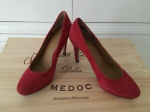 Disco £ West a 96 Suede con plateau 'red' In Scarpa plateau uk5 58 Beautie Nine rrp d67gqd0xw