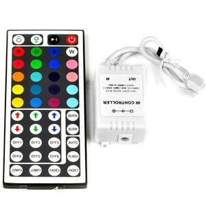 44-KEY-IR-REMOTE-CONTROLLER-RGB-CONTROL-BOX-DC-12V-PER-LED-STRISCIA-LUMINOSA-3528-5050